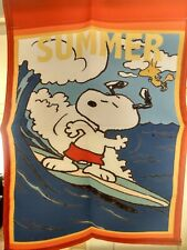 New listing Snoopy Summer 12 x 17 inches Garden Flag Beach Ocean Surfing