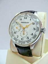 STUNNING JAEGER LECOULTRE SWISS WORLD TIME GENTS OVERSIZED WRISTWATCH, 1930's