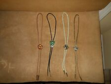 Lot of 4 Vintage Bolo Ties Assorted Southwest Style