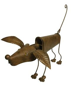 Bronze Metal Standing Nodding Dog Garden Ornament 53 x 45 x 30 cm UK seller