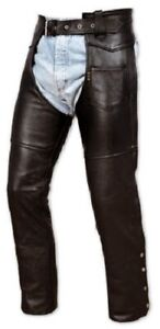 Chaps Ladies leather Cowhide Motorcycle Apparel Trousers Cruiser All Sizes