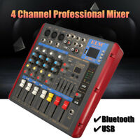 4 Channel bluetooth USB Audio Mixer Power Stage Mixing Amplifier Mp3 USB