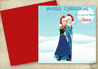 PERSONALISED FROZEN OLAF INSPIRED CHRISTMAS CARD BOY GIRL SON DAUGHTER GRANDSON