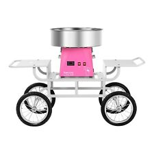 Zuckerwattemaschine Zuckerwattegerät Pink Set Unterwagen Weiß Edelstahl 1030 W
