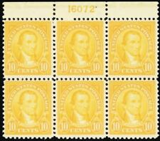 562, Mint 10¢ VF NH Top Plate Block of Six Stamps Cat $400.00 - Stuart Katz
