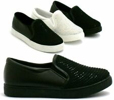 Wedge Loafers, Moccasins Synthetic Upper Trainers for Women