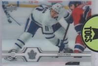 Zach Hyman 2019-20 UD Series One Clear Cut Base Card Insert Toronto Maple Leafs
