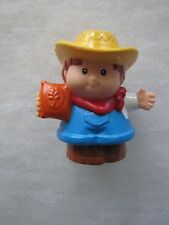 Fisher Price Little People FARMER JED with GRAIN SACK for FARM ANIMALS BARN