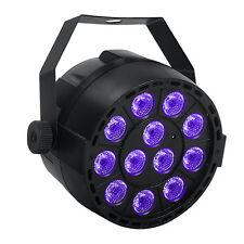 Black Lights with 36W 12LEDs UV Par Light by IR Remote and DMX Controller
