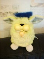 VINTAGE FURBY 1995 TIGER GREEN AND BLUE WORKS INTERMITTENTLY FOR SPARES REPAIRS