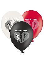 "Divorce - Free at Last - 12"" Printed Latex Balloons Assorted Happy Groom - 5 ct"