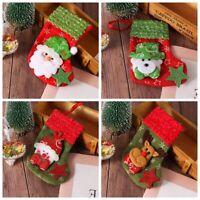 fête Chaussettes Les chaussettes de Noël Sacs de confiserie Décoration de fête