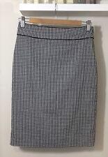 PRINCIPLES Petite Black & White Check Skirt - Size 8