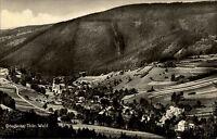 Döschnitz Thüringer Wald DDR s/w 1967 gelaufen Gesamtansicht Panorama Berg Wald
