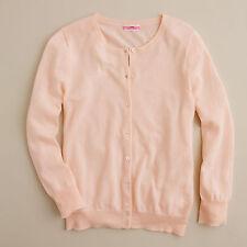 J Crew Italian featherweight cashmere cardigan sweater set shell xs pink peach