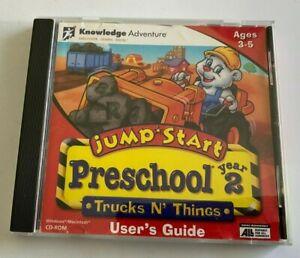 Jump Start Preschool Users Guide [CD-ROM] ages 3-6 trucks n things preschool
