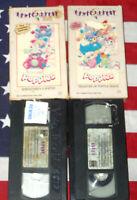 Popples (VHS, 1986) Cartoon TV Toys Animated Magic Window Video Rare Set Lot