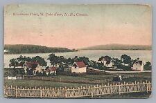 Woodmans Point—St. John River New Brunswick Rare Antique Pc 1906