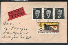 Eilbote Expres 1960 DDR gelaufen nach FRANKFURT MiNr. 784 A + 769 MiF Beleg