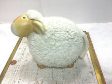 "Vintage Furstenberg Ceramic Sheep Fleece Wool Covered 6""H x 8""L x 6""W"