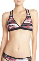 * NWT Zella Mesh Racerback Bikini Top, Size X-Large - Coral