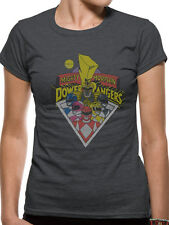 Power Rangers Womens Ladies Fitted T-shirt Top Group M UK 10-12