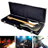 New Protable Electric Guitar Square Hard Case w/ Silver Hardware and Lock US
