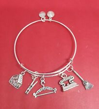 "Silver ""Housekeeper"" themed Charm Bracelet (maid, house cleaner, housework)"