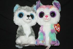 ty beanie boos 6 inch izabella dog claires excl with heart tag and slush lot