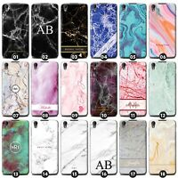 Personalized Marble Case/Cover for Blackberry Phones Initial/Text/Name/Custom