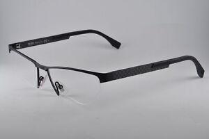 Hugo Boss Eyeglasses 0734 0KCQ Black Carbon, Size 56-17-145