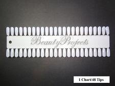 (48tips) Nail Art Polish Gel Design Display Palette Color Practice Tips -1 Chart