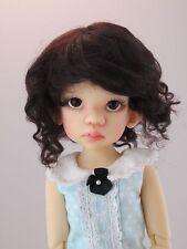Monique SOPHIA Mohair Wig Dark Brown Size 8-9 BJD shown on Kaye Wiggs Talyssa