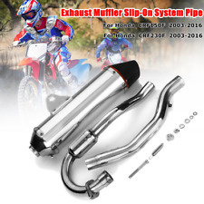 44cm Aluminum Exhaust Muffler Slip-On System For Honda CRF 150F 230F 2003-16 US