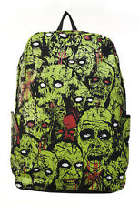 Banned Zombie Attack Monster Backpack Rucksack School Bag GREEN Waterproof Green