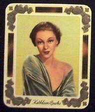 Kathleen Burke 1934 Garbaty Film Star Series 2 Embossed Cigarette Card #189