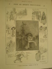 Humours of the fog Will Owen 1908 old cartoon print