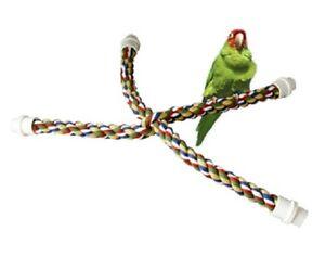 Parrot Pet Bird Soft Rope Booda Comfy Cross Cage Perch