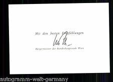 Bürgermeister Wien TOP Orig. Sign. + 9825