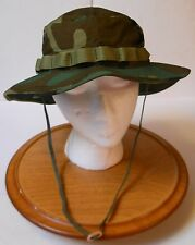 "BOONIE HAT, WOODLAND CAMO 50-50 NYCO RIPSTOP,.MIL-SPEC, R&B, 7 1/2""(LARGE) NEW!"