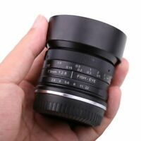 7.5mm F2.8 Manual Focus Wide Angle Fisheye Lens for Canon EOS EF-M Mount