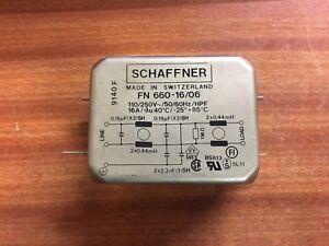 Schaffner FN 660-16/06 110/250VAC 50/60Hz/HPF 16A EMI Filter