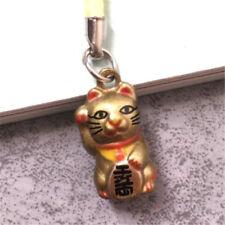 Maneki Neko Fortune Lucky Beckoning Cat Keyring Keychains Key Ring Chain Gifts