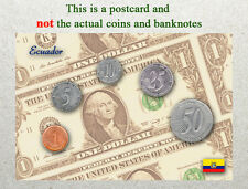 Postcard: Ecuador Circulating Coins and Currency (Banknote) 2013
