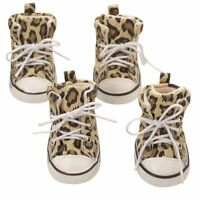 Cozy Unisex Pet Dog Boots Puppy Leopard Shoes For Small and Big Dogs SIZE #1- #8