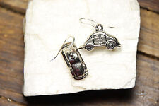 Car Earrings Bug pendant 1 pair Auto Cars 925 sterling silver Pewter Charms