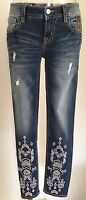 NEW MISS ME JEANS W/TAG MP8928AK ANKLE SKINNY INSEAM 27""