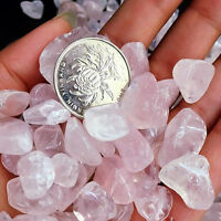 50G Natural Pink Rose Quartz Crystal Stone Mineral Raw Specimen Gemstone Decor++