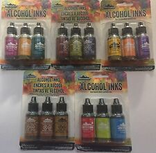 TIM HOLTZ - 15 COLOR PACKAGE OF  ADIRONDACK ALCOHOL INKS  PACK #1