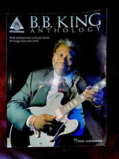 B.B. King Anthology for Guitar Tab Sheet Music Chords Lyrics 35 Blues Songs Book
